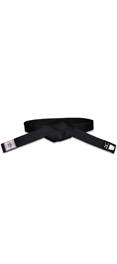 Mizuno Silver IJF Approved Black Belt