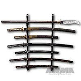 Black Lacquered Wall Sword Display