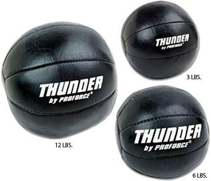 Leather Medicine ball By Proforce Thunder