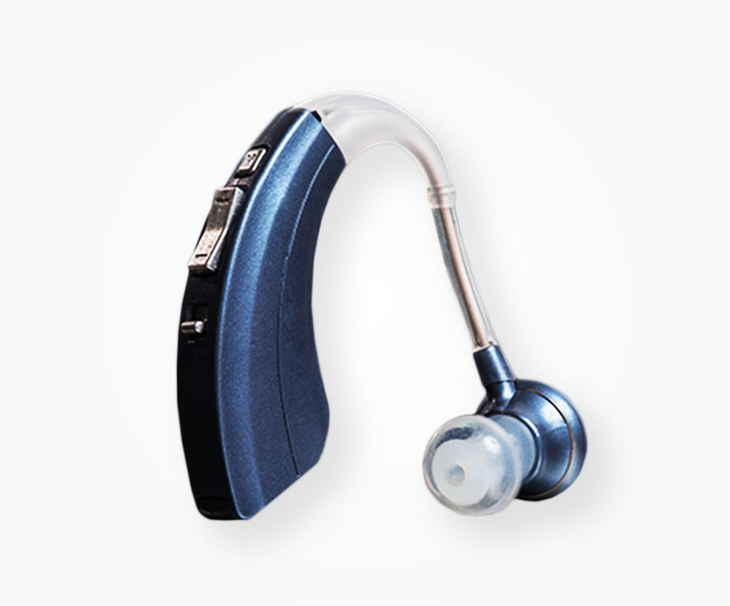 "Hearing Amplifier with 500hr Battery Life, Modern Blue "" FDA Approved """