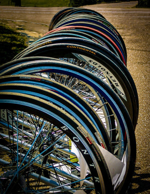 Paper Print Bike Wheels