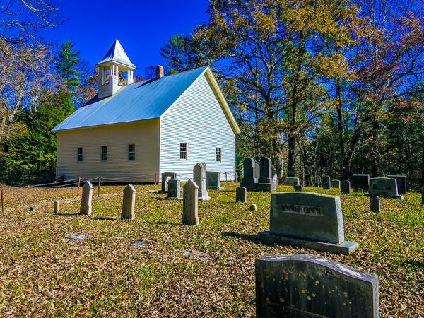 Paper Print Cades Cove Primitive Baptist Church2 JaiGieEse PhotoArt