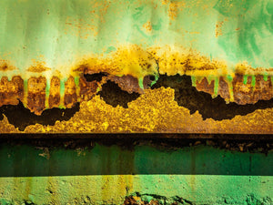 Paper Print Corroded Green