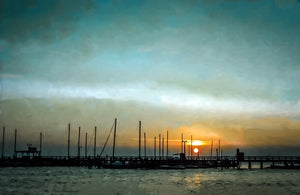 Paper Print Harbor Sunset JaiGieEse PhotoArt