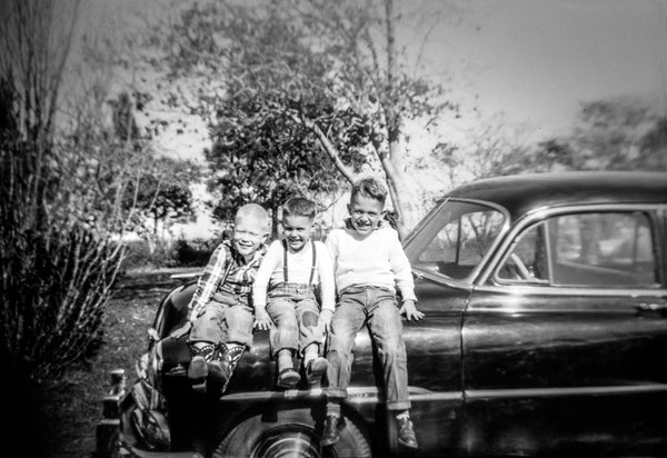 Paper Print Jon, Mike and Tom on Car JaiGieEse PhotoArt