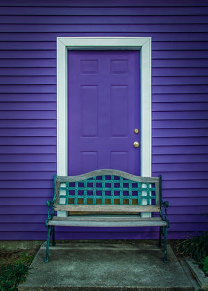 Paper Print Purple Door