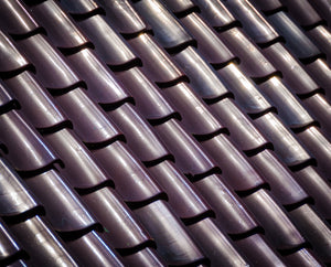 Paper Print Tiled Roof
