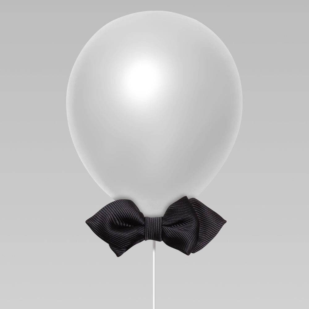 Daddy and Kid Diamond Point Bow Tie Plain color black balloon