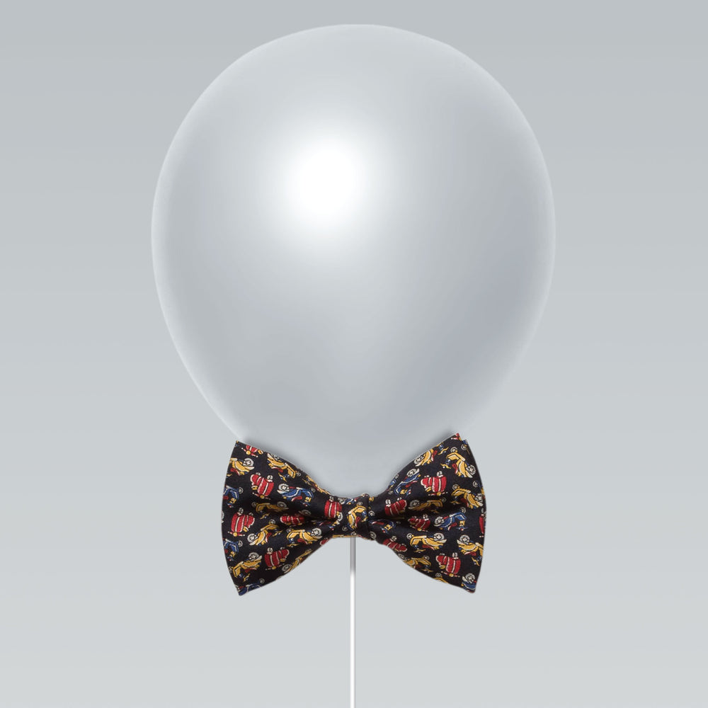 Little butterfly bow tie cars print black and cheerful balloon