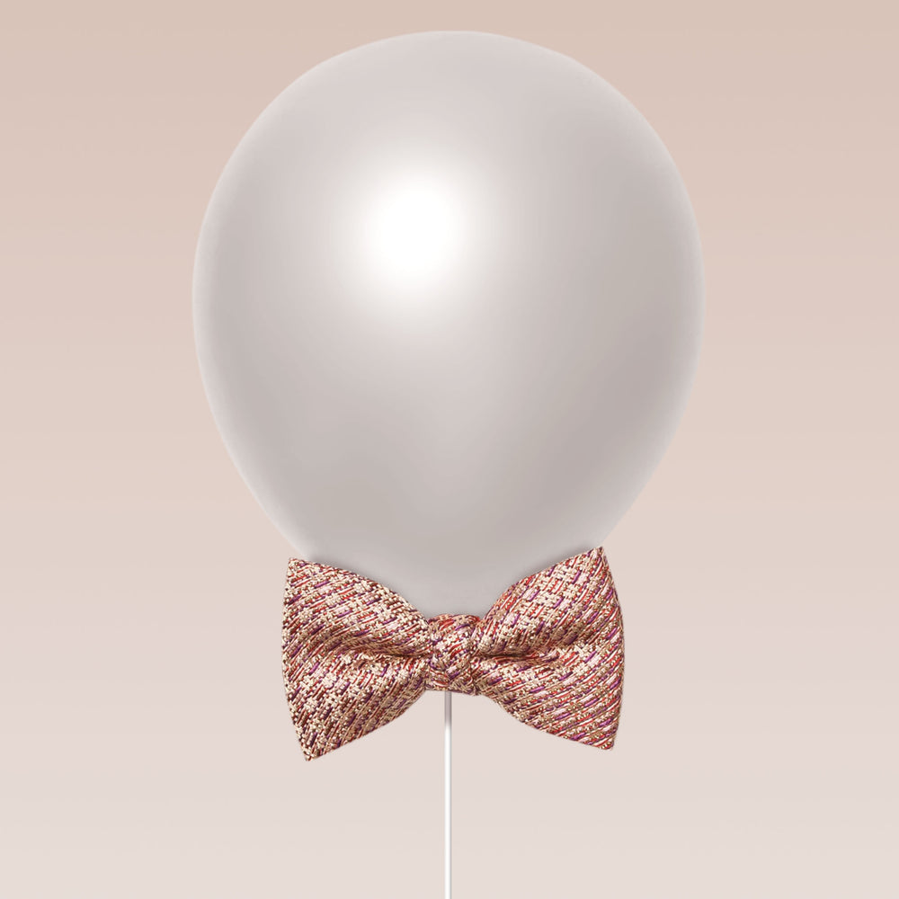 Little butterfly bow tie tweed texture blush balloon