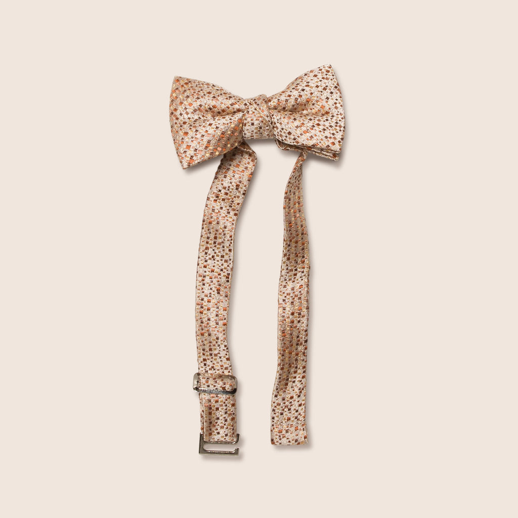 Little butterfly bow tie tweed texture peach