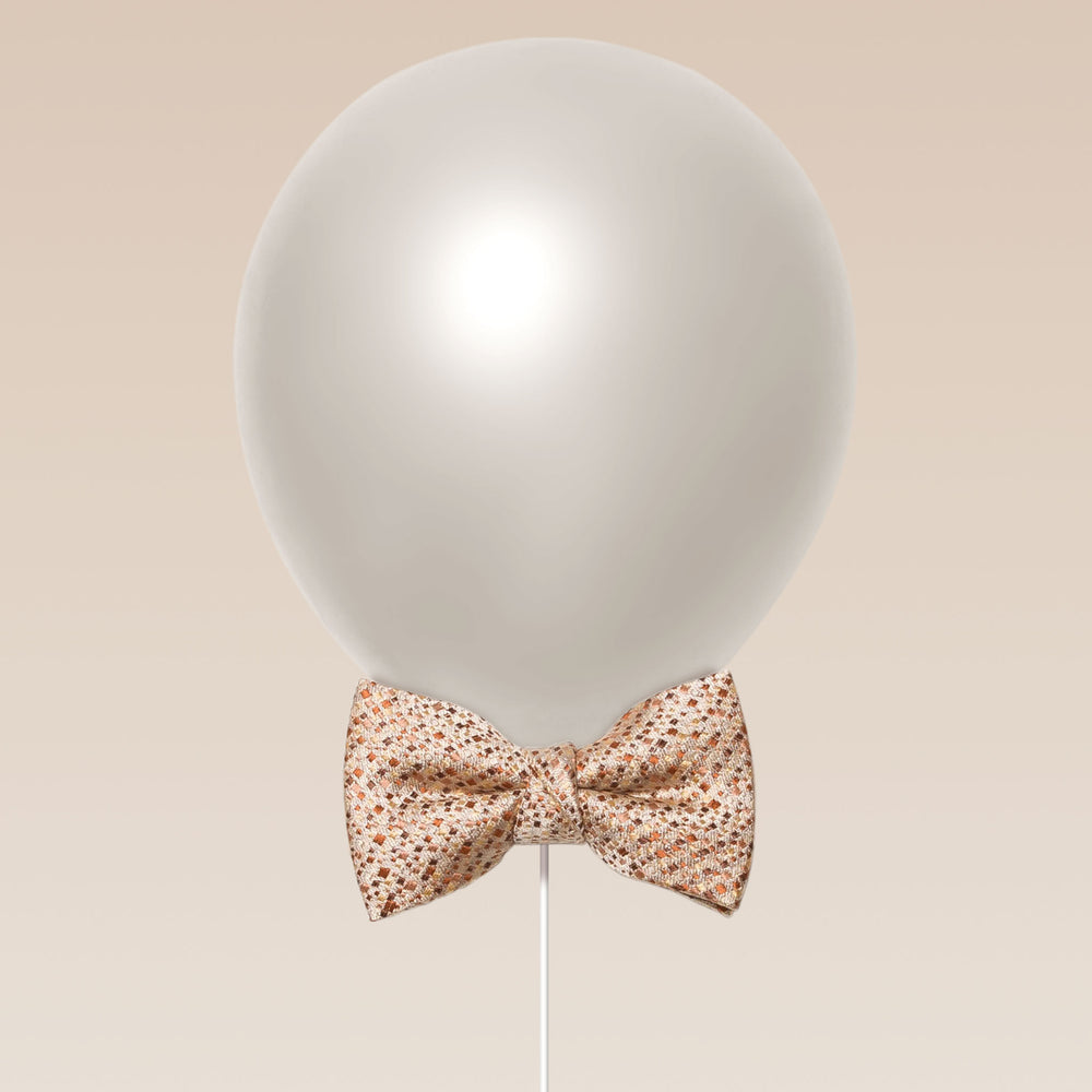 Little butterfly bow tie tweed texture peach balloon