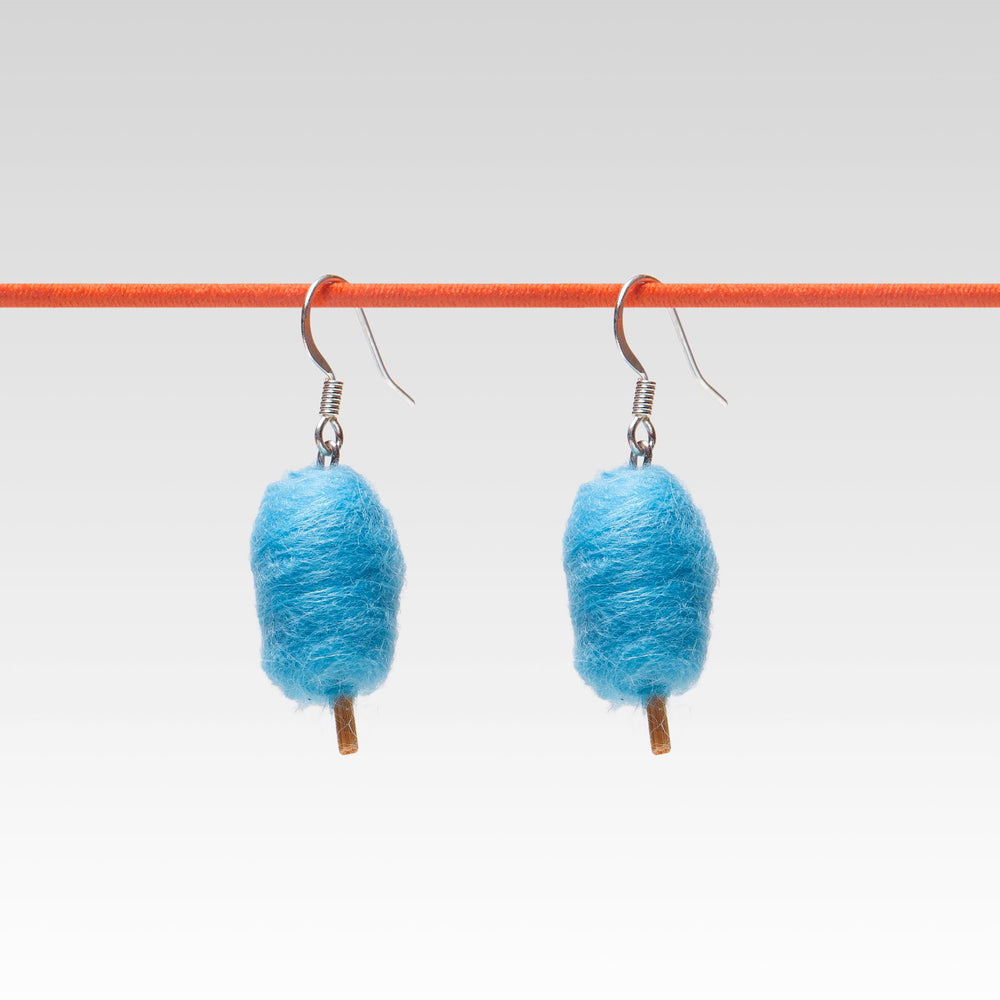Yomi Yomis Dangle Earrings Blue Cotton Candy