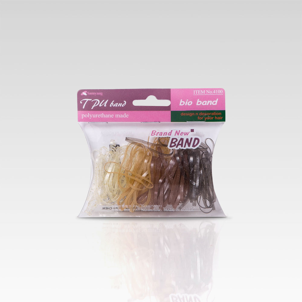 Hair Band Rubber Blonde 100 set