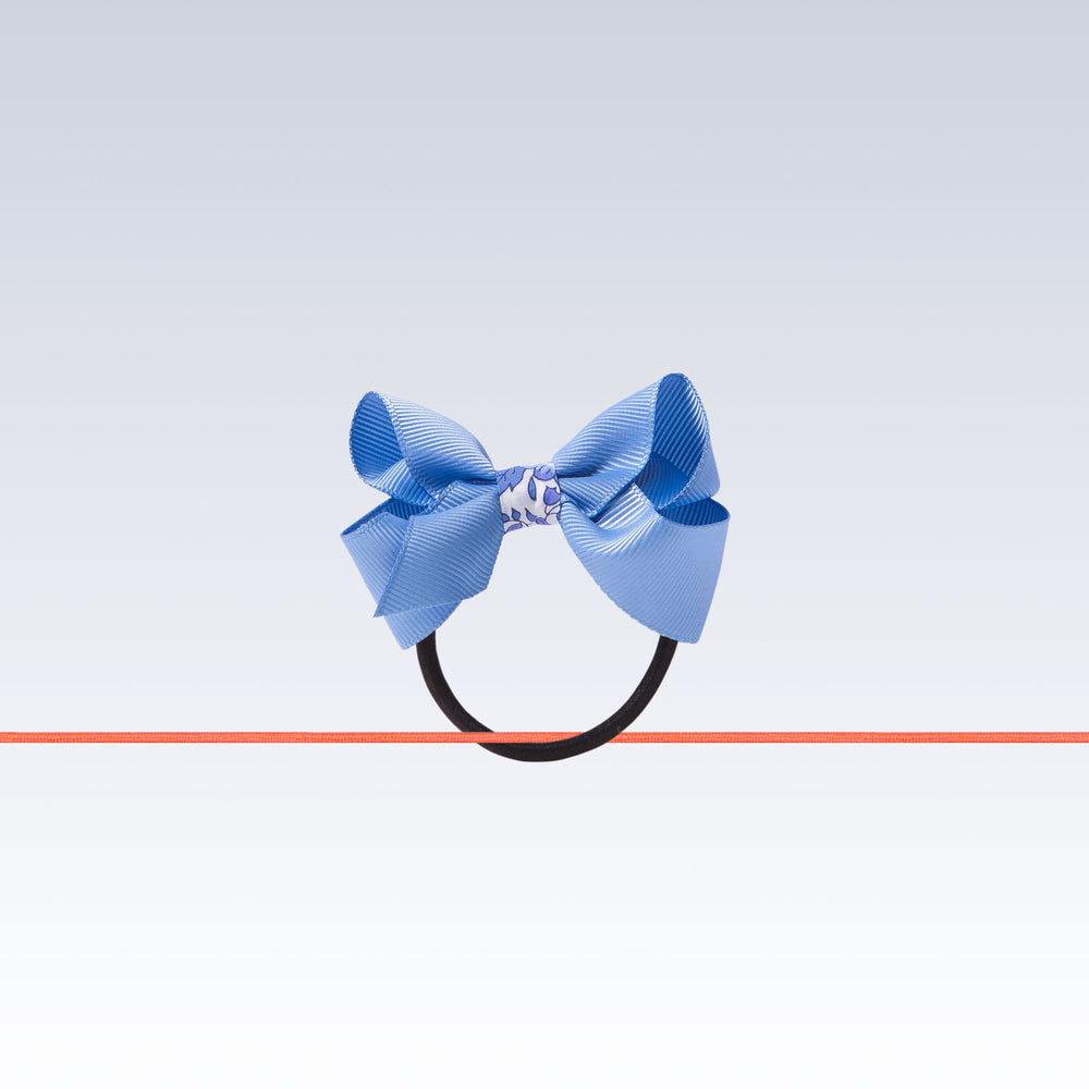 Milledeux Hair Tie Boutique Bow Blue