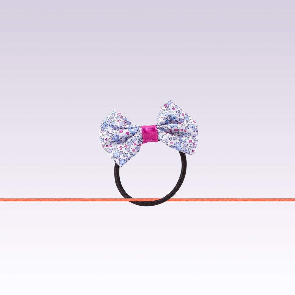 Milledeux Hair Tie Boutique Bow Flower Pink