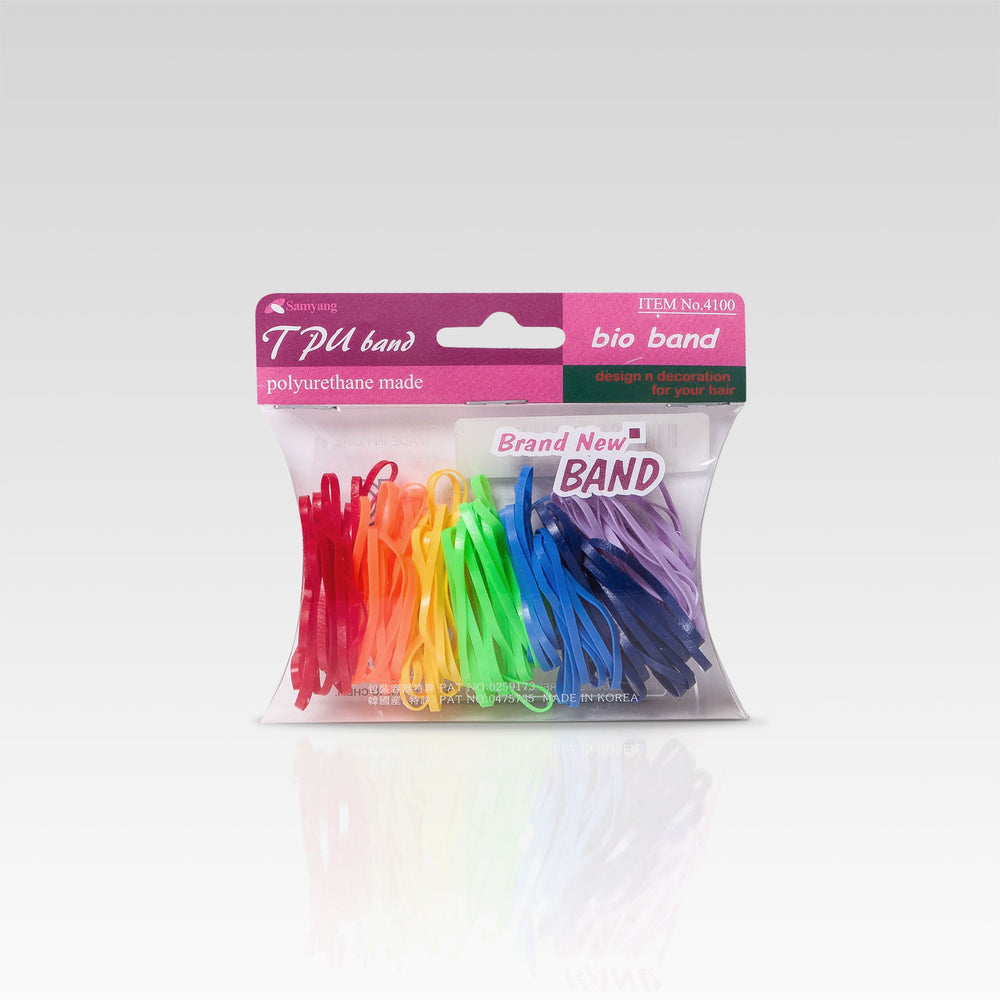 Hair Band Rubber Large Rainbow 100 set