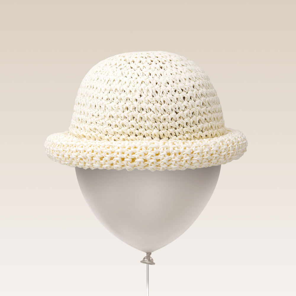 Adjustable Sun Hat Straw Bell Hat White Balloon