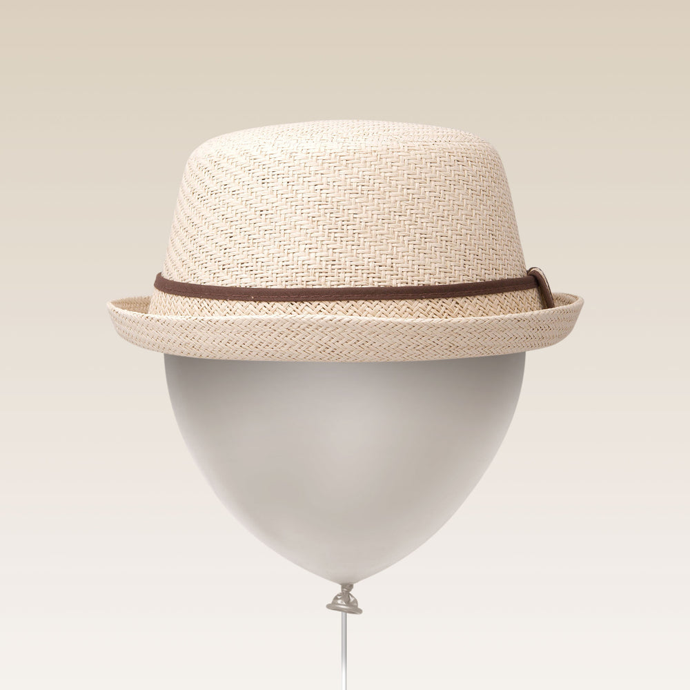 Adjustable Sun Hat Straw Boater Hat White Balloon
