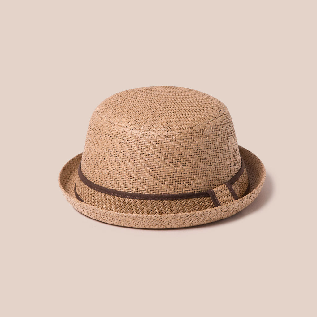 Adjustable Sun Hat Straw Boater Hat Tan