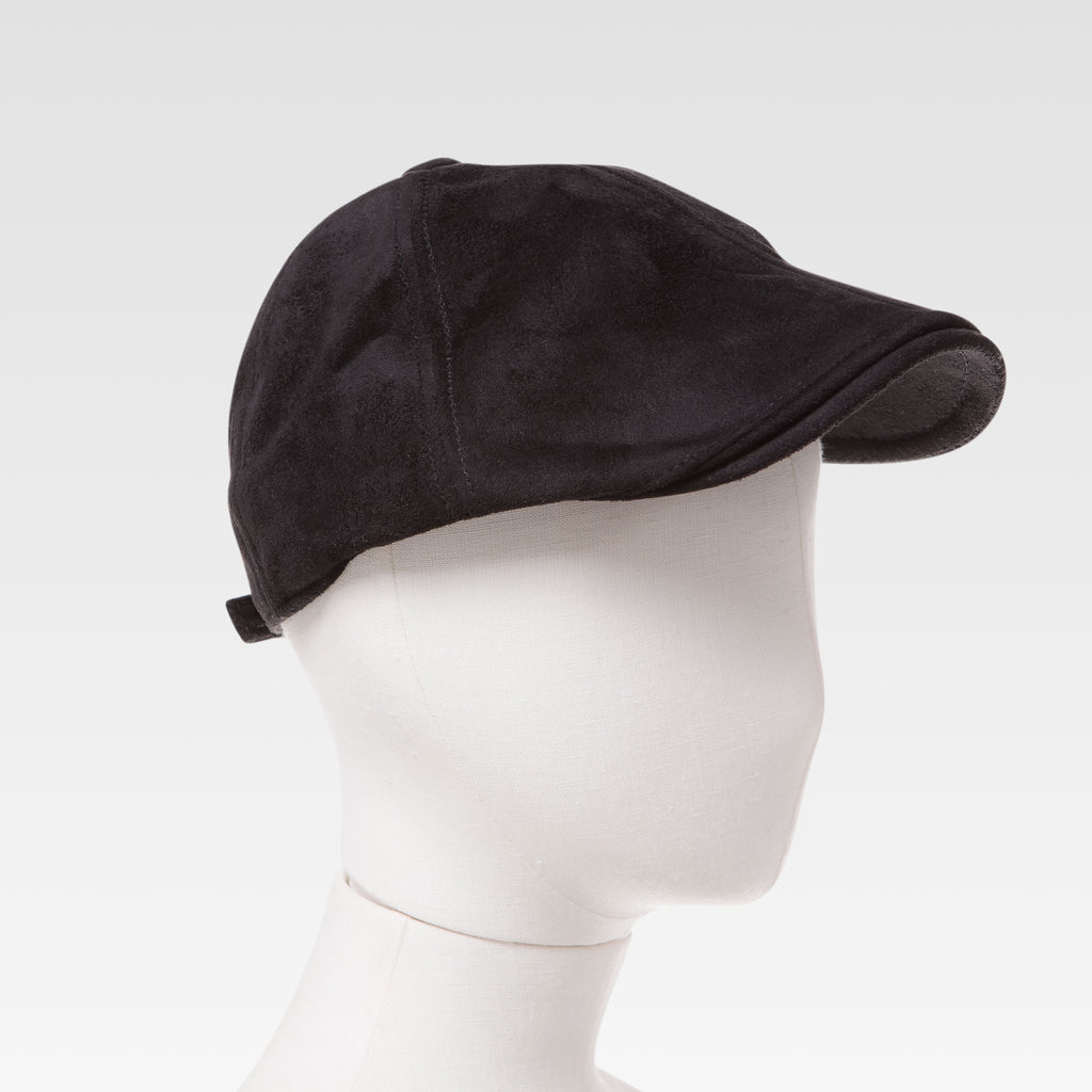 2087d5bc3dd75 Kids Suede Newsboy Cap In Black - Winter Hats for Boys - DapperDazzle