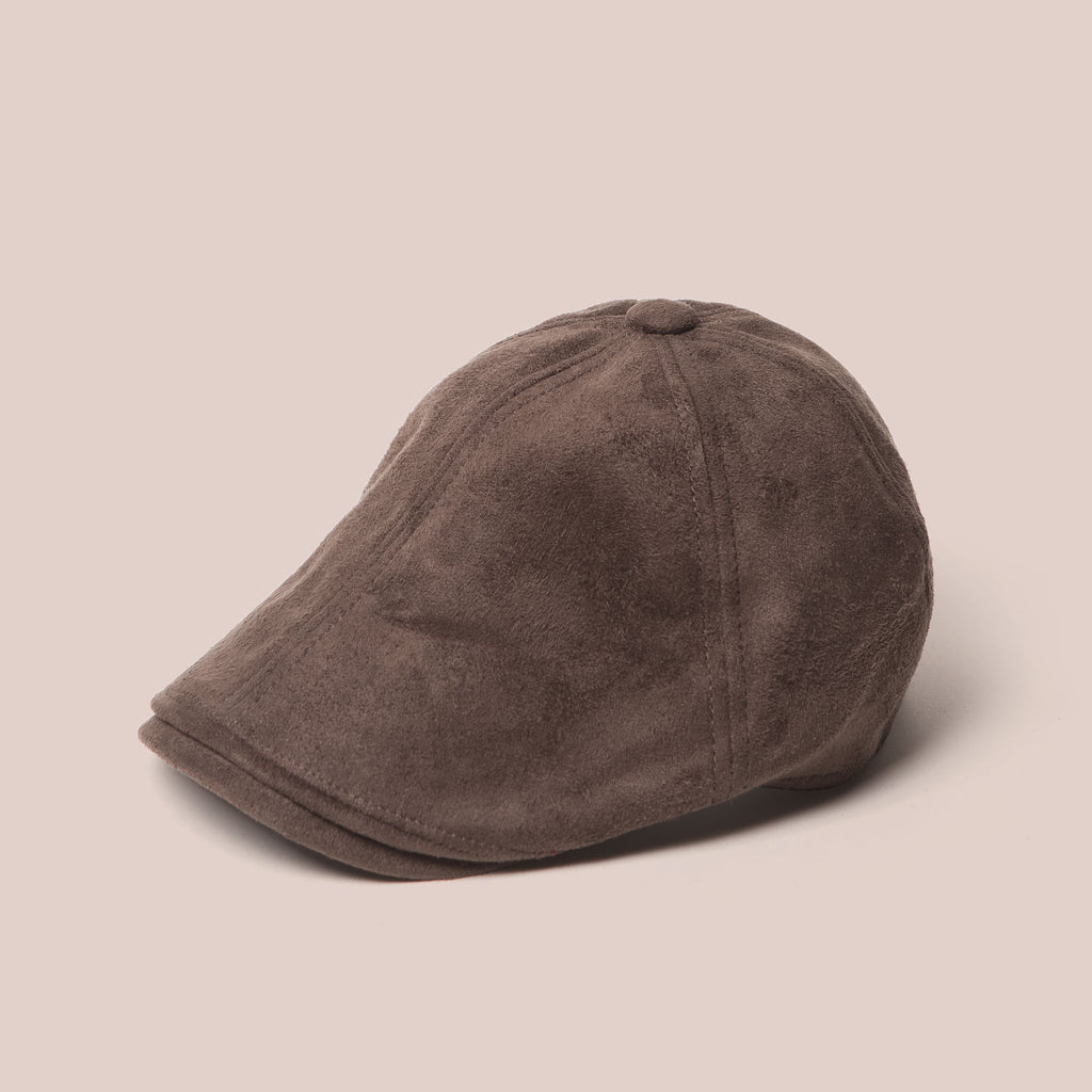 7dac3f52a14ad Kids Suede Newsboy Cap in Brown - Winter Hats for Boys - DapperDazzle