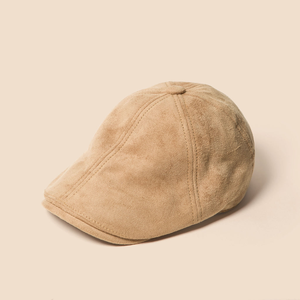 699c4ef8c7a23 Kids Suede Newsboy Cap In Tan - Winter Hats for Boys - DapperDazzle