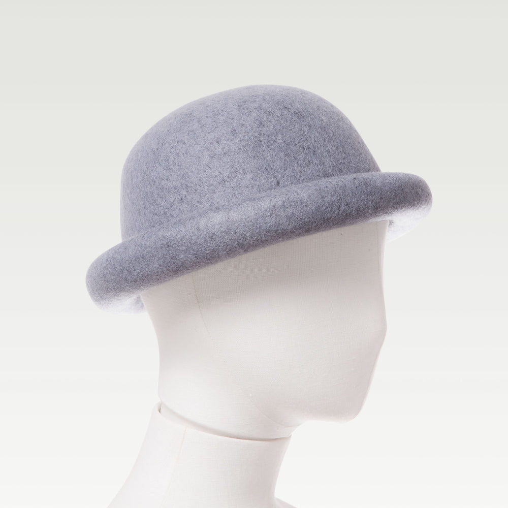 Wool Bell Hat Gray mannequin