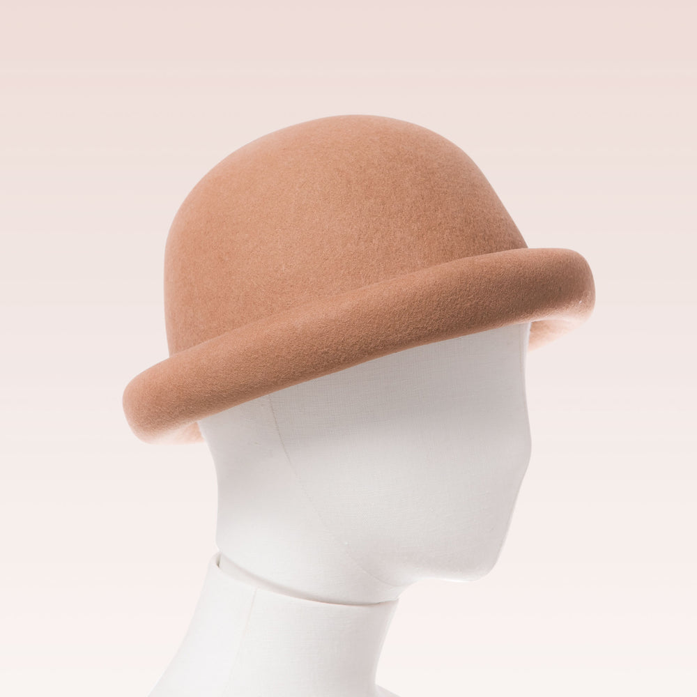 Wool Bell Hat Tan mannequin