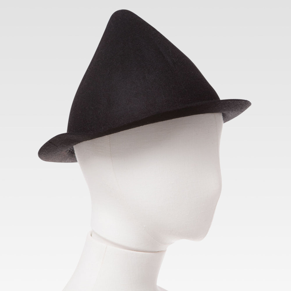 Wool Cone Hat Black mannequin