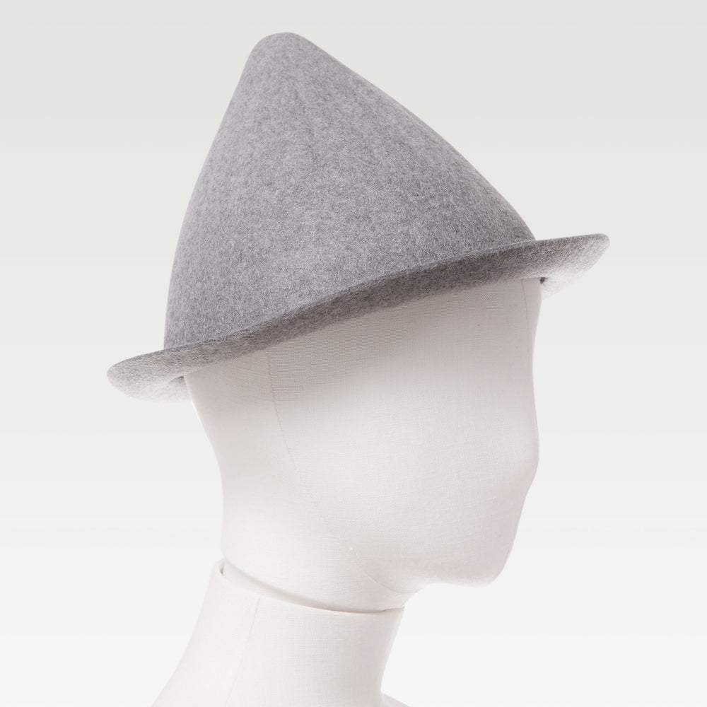 Wool Cone Hat Gray mannequin