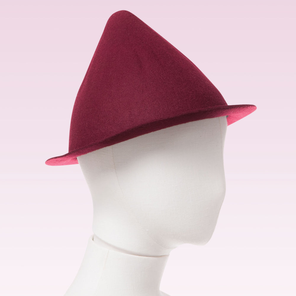 Wool Cone Hat (Wine) mannequin