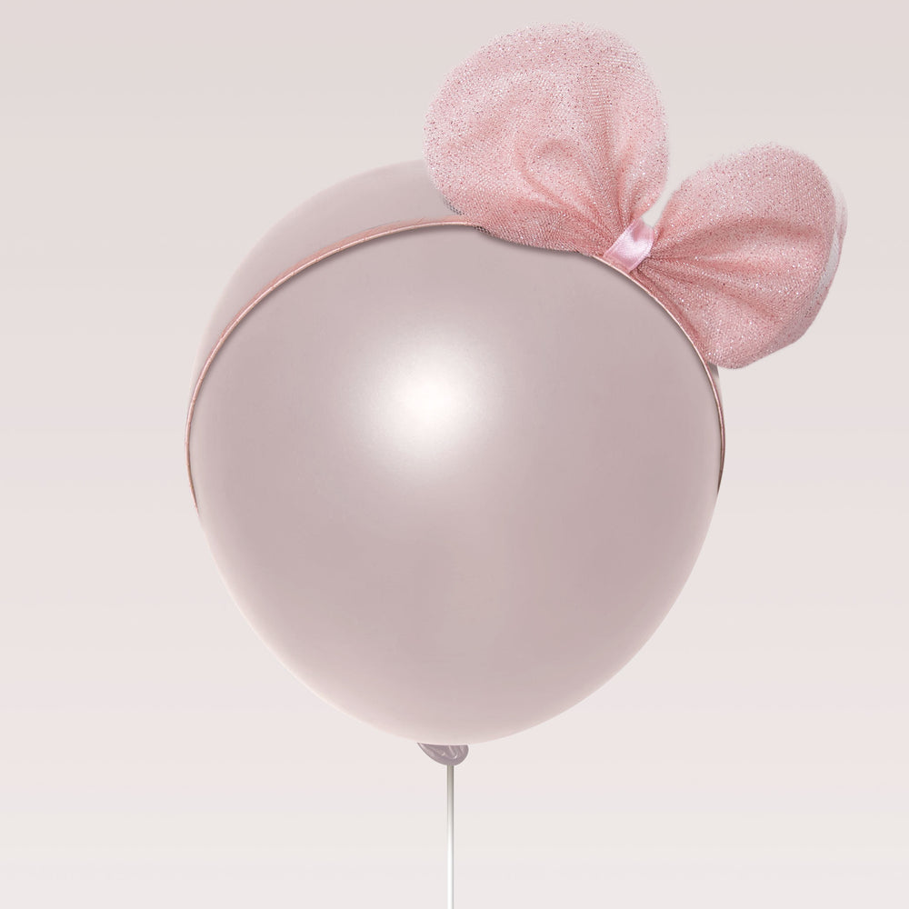 Girl's Tiara Blitter Pink Minnie Mouse Ears Tiara Balloon