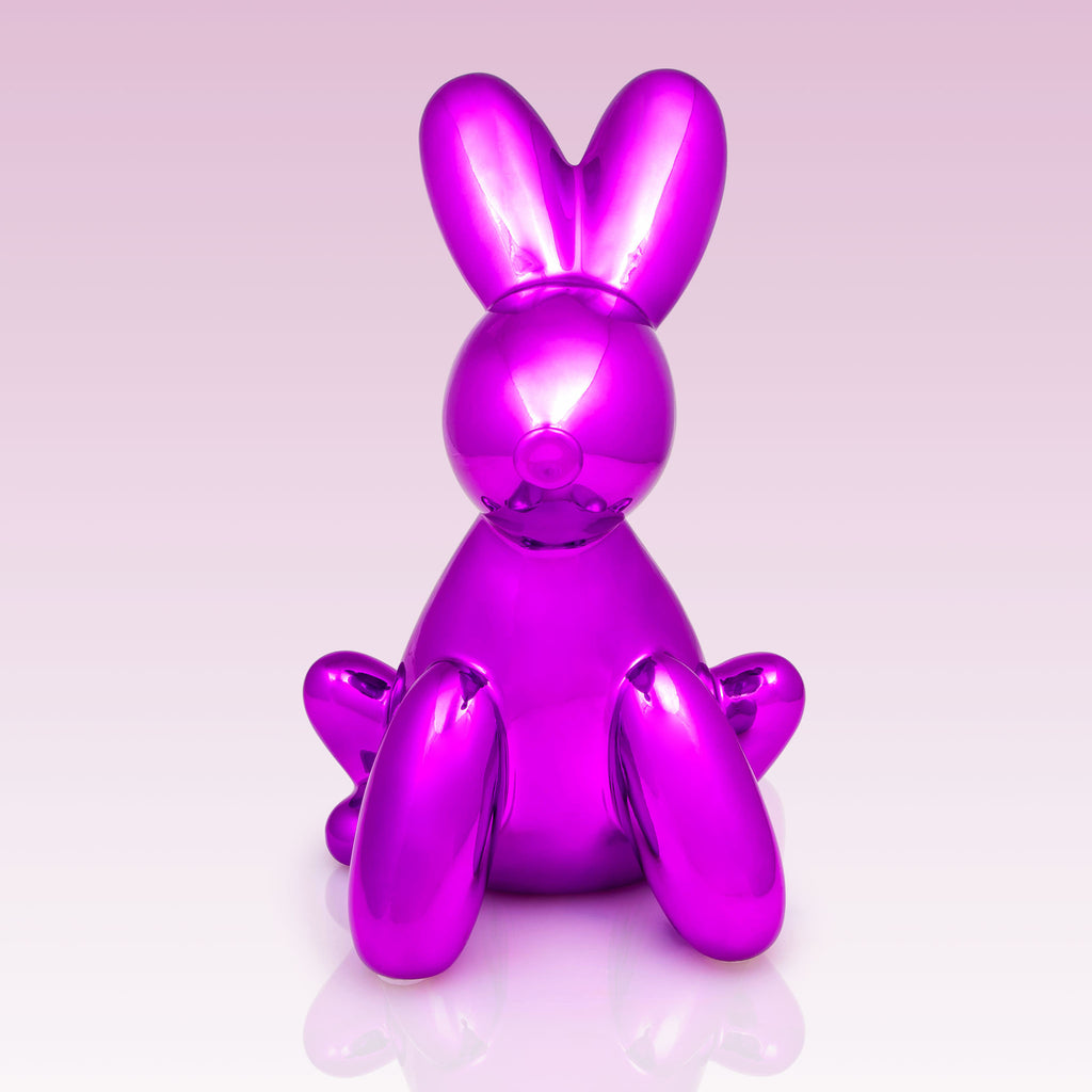 Balloon Money Bank Bunny Pink metallic smart kids front