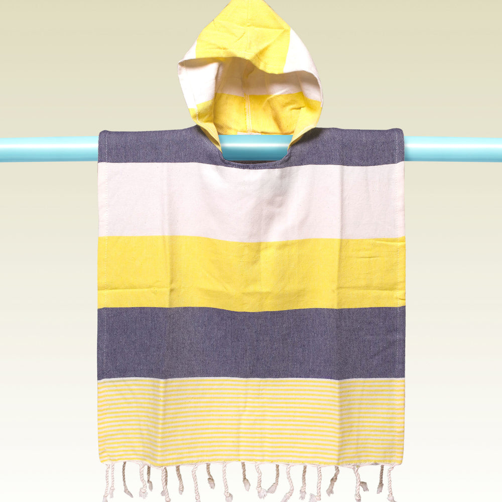Children's Poncho and Parker Breakers Yellow and Grey