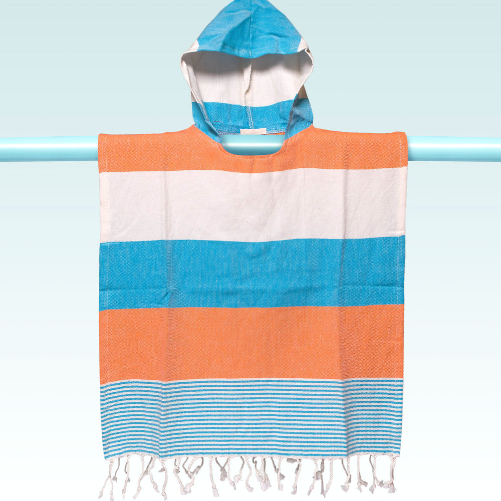 Children's Poncho and Parker Breakers Orange and Blue
