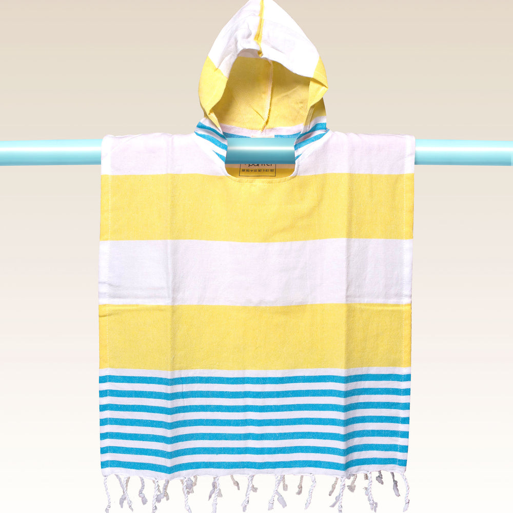 Children's Poncho and Parker Kahuna Skinny Yellow and White