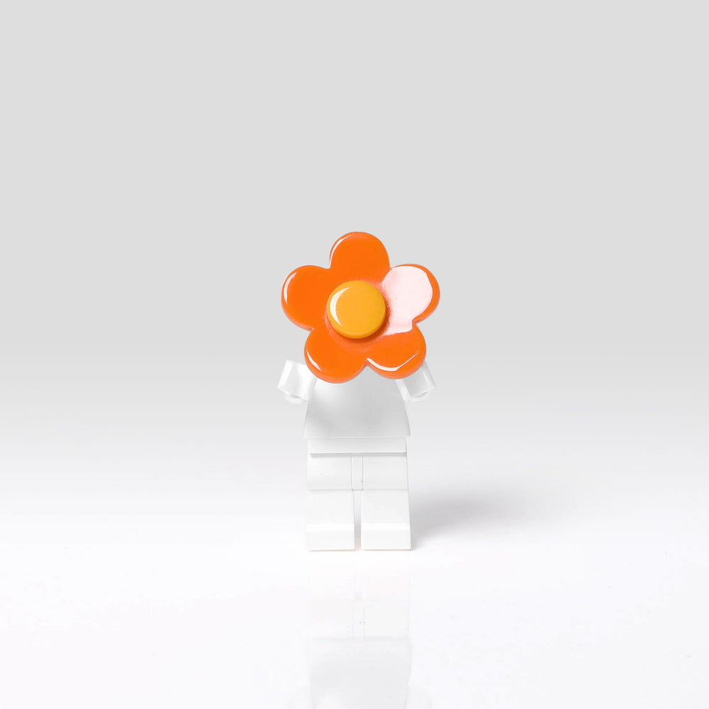 Lilies and Roses Ring for Girls Flower Orange and Yellow Front