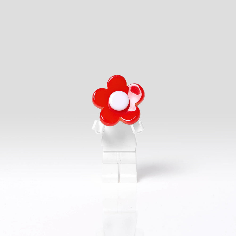 Lilies and Roses Ring for Girls Flower White and Red Front
