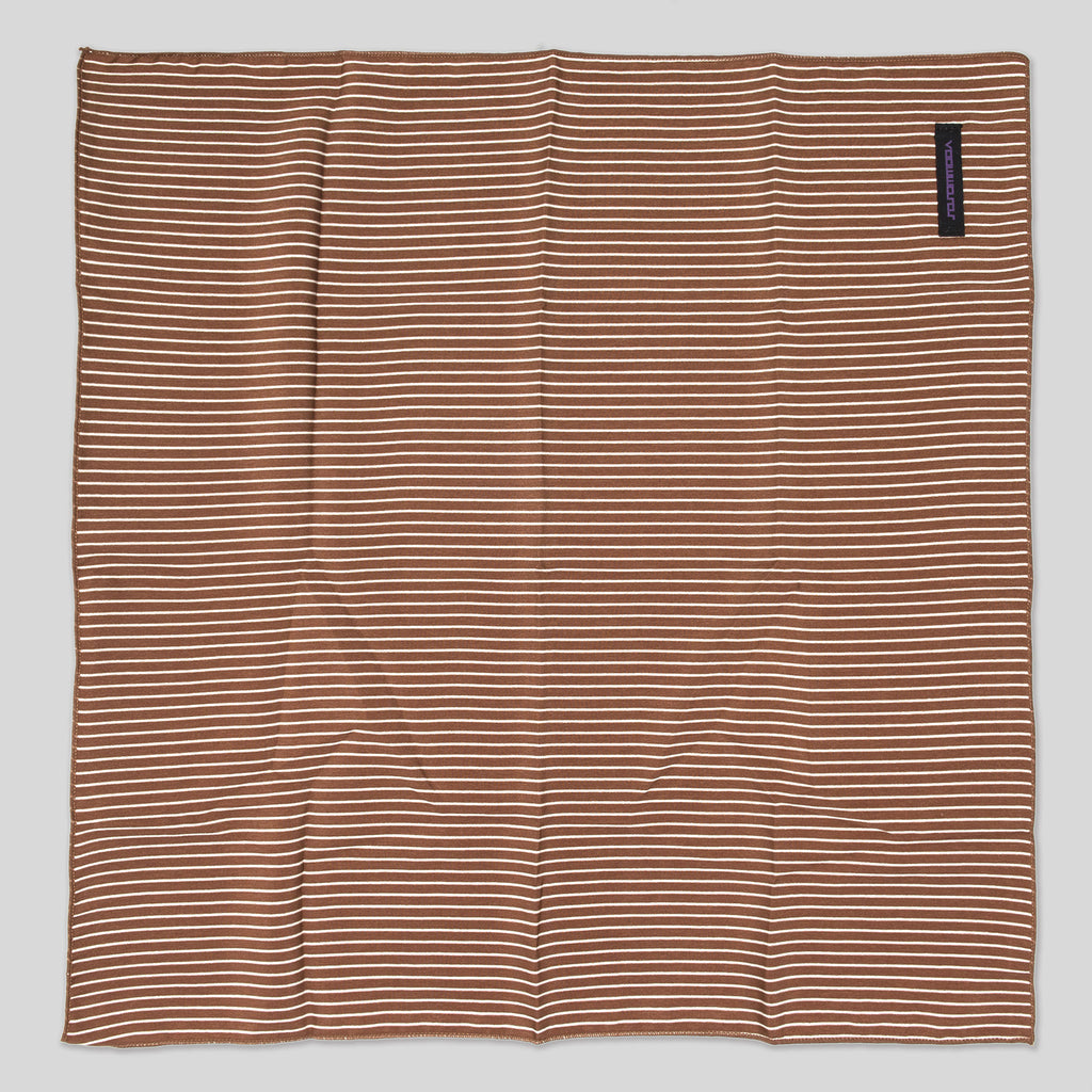 Neckerchief (Stripe | Marine Brown) top view