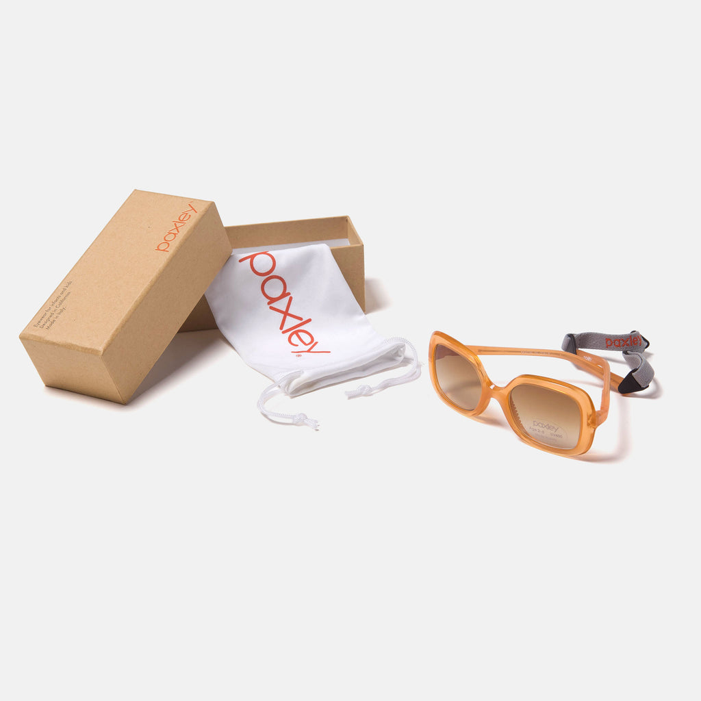 Paxley Sunglasses for Kids Larchmont Amber 0-5 Packaging