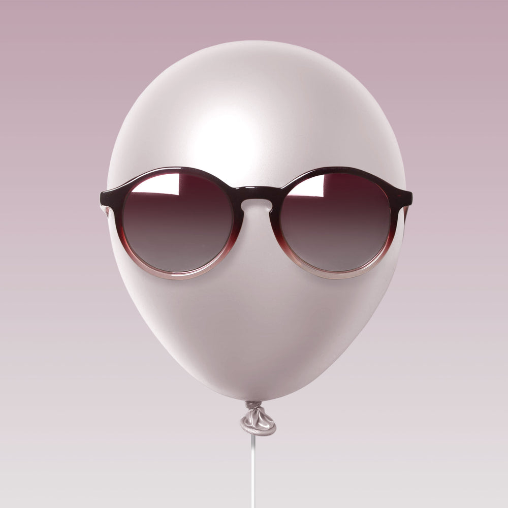 Paxley Sunglasses for Kids Milan Raspberry Swirl 6-10 Balloon