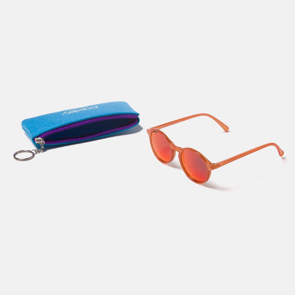 Paxley Sunglasses for Kids Milan Tangerine 6-10 Packaging