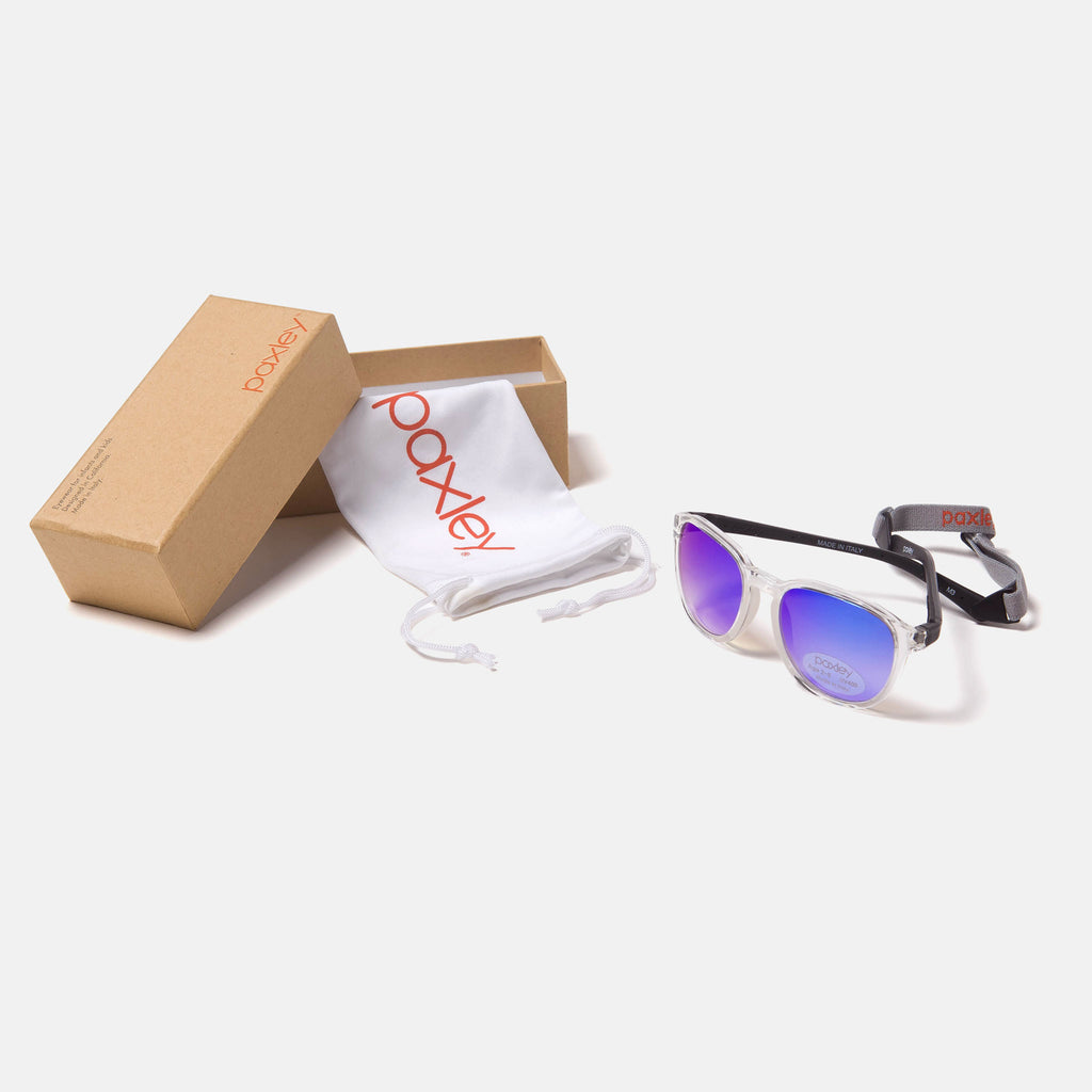 Paxley Sunglasses for Kids Mulholland Crystal & Midnight 0-5 Packaging