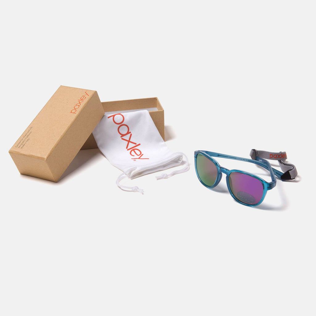 Paxley Sunglasses for Kids Mulholland Steelt 0-5 Packaging