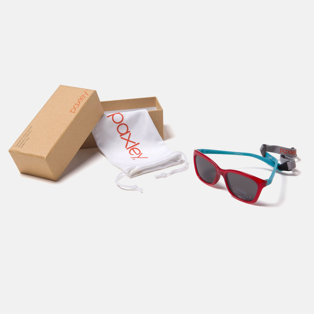Paxley Sunglasses for Kids Pico Cherry & Cian 0-5 Packaging
