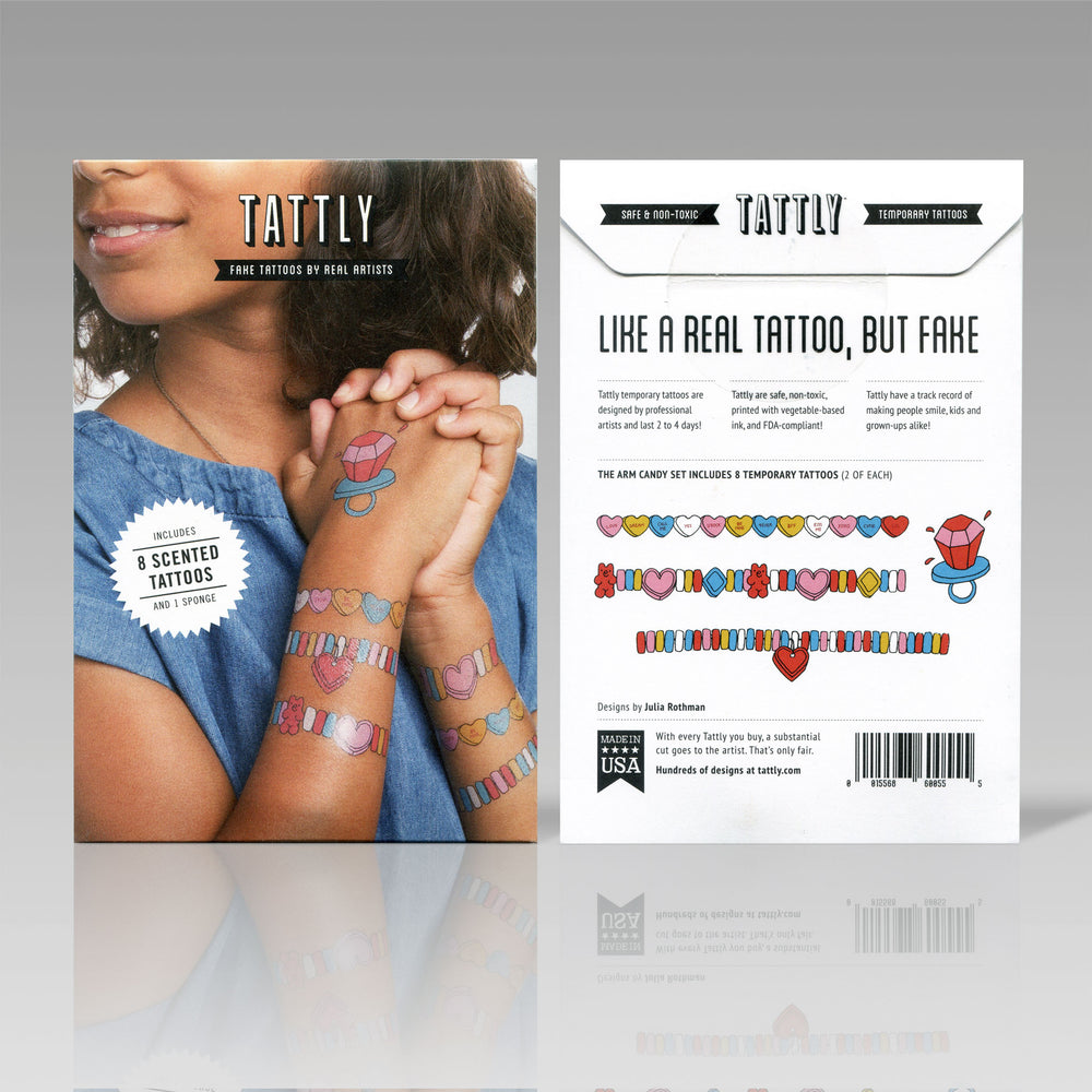 Tattly Flash Tattoo Arm Candy Packaging