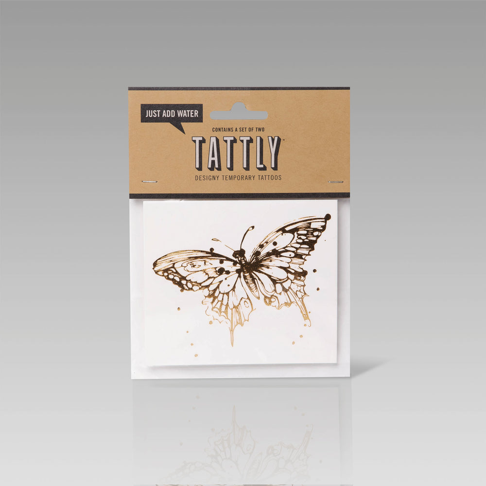 Tattly Flash Tattoo Gold Butterfly