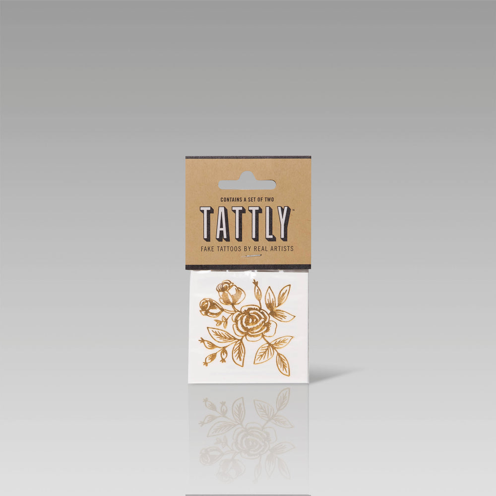 Tattly Flash Tattoo Gold Floral