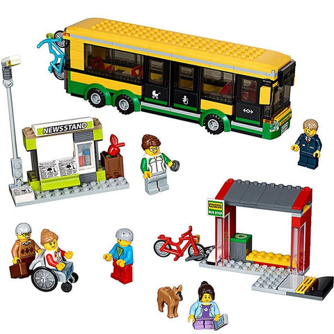King 82053 Town Bus Station (Previously known as Lepin 02078)
